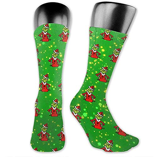 chongha Christmas-Tree-the-Grinch Calcetines medianos y
