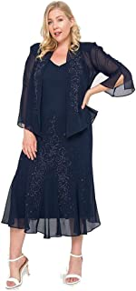 Long Mother of The Bride Plus Size Dress Made in USA