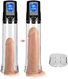 Vacuum Pump Massager Toy Male Méns Electric Vacuum Pump to Enlarge Muscle Exercise Body Enhancement Mént Expander with LED Panel Screen Display Health Data, Relax Comfort and Decompression