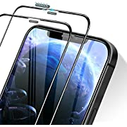 Meidom Kompatibel mit iPhone 12 Panzerglas/iPhone 12 Pro Panzerglas [2 Stück] 3D Vollständige Abdeckung Anti-Kratzen Schutzfolie für iPhone 12/iPhone 12 Pro (6,1 Zoll) - Mit Staubnetz