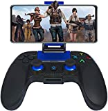 manette pour android ios sans fil, maegoo wireless bluetooth mobile de jeu manette gamepad joystick avec phone bracket pour ios(11.3-13.3 version) iphone ipad android téléphone