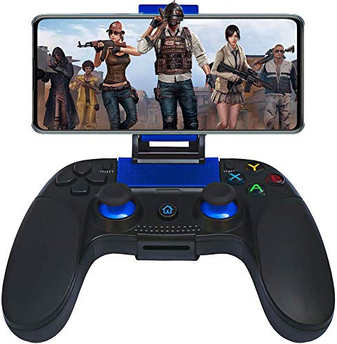 Controller für Android Wireless, Maegoo Bluetooth Kabellos Mobile Game Controller Gamepad Joystick mit Einziehbarer Halterung für iOS(11.3-13.3 Version) iPhone iPad Android Phone Tablet