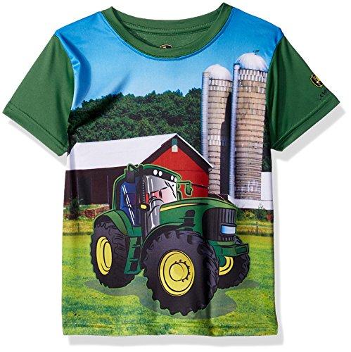 John Deere Boys' Toddler Performance T-Shirt, Green, 3T