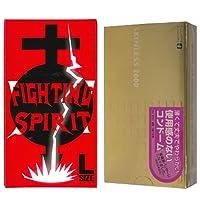 オカモト スキンレス 2000 12個入 + FIGHTING SPIRIT (ファイティングスピリット) コンドーム Lサイズ 12個入