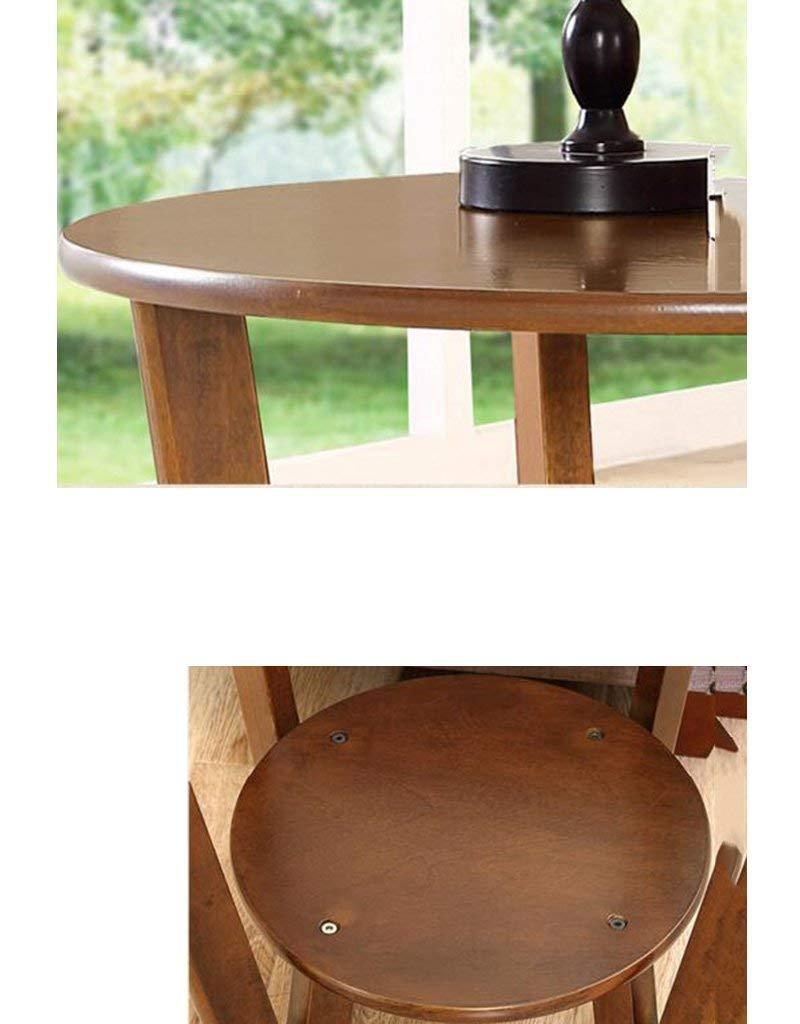 SED Mesa pequeña multifunción Sofá doméstico Esquina de la Esquina Teléfono Redondo Pequeña cafetera Estudio Simple,Nuez: Amazon.es: Deportes y aire libre