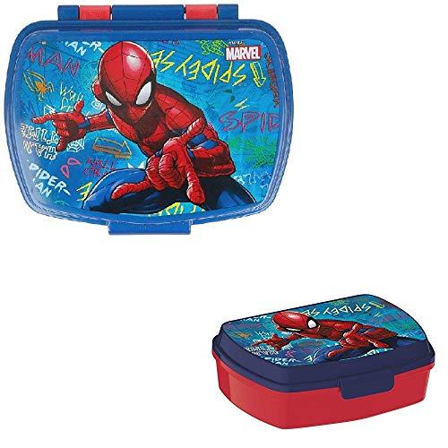 Les Colis Noirs LCN - Boite a Gouter Marvel Spider-Man Graffiti - Spiderman Enfant École Rentrée - 743