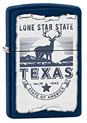 Zippo Lighter: Texas, the Lonestar State – Navy Matte 78132