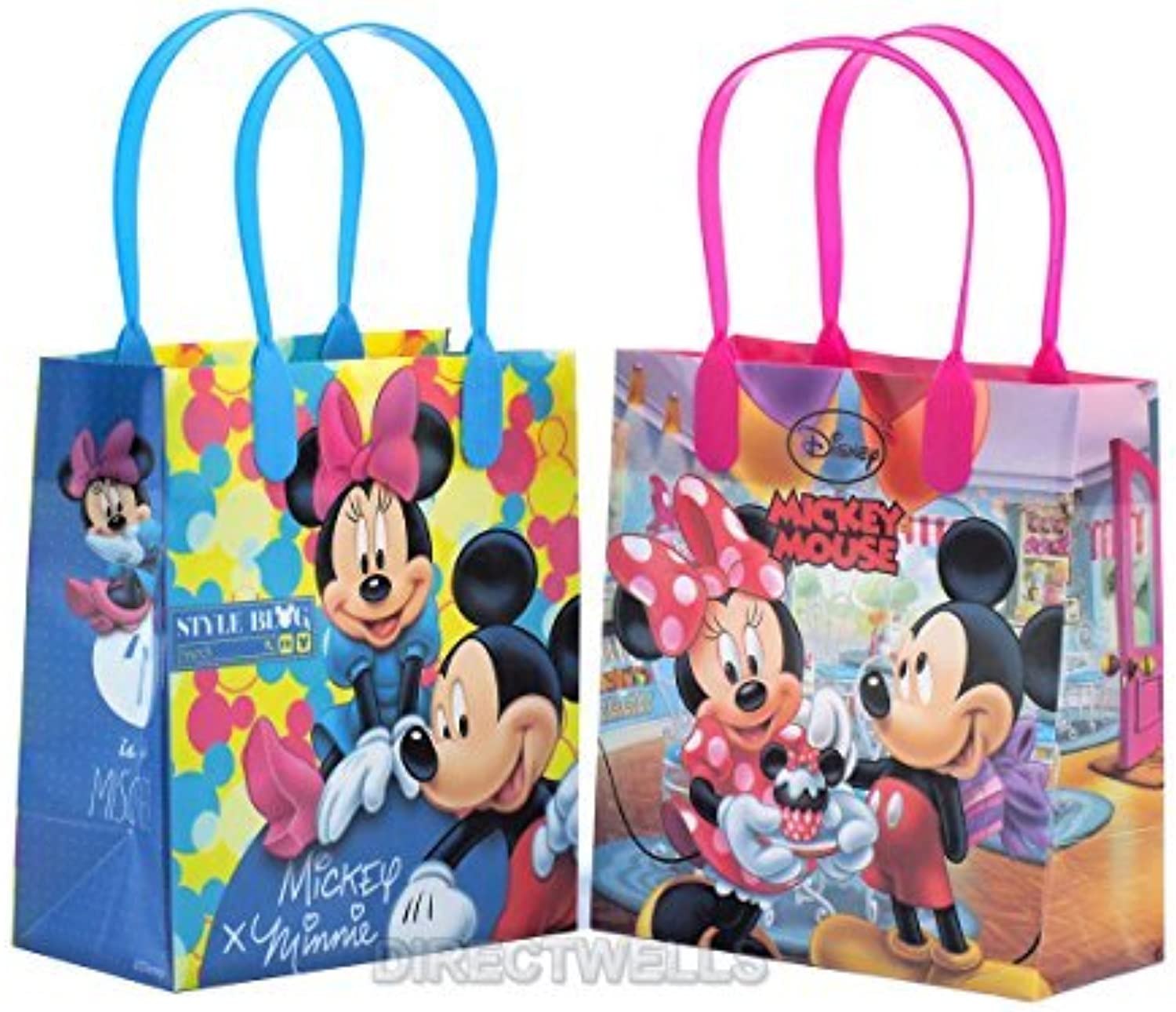 Disney Mickey and Minnie Mouse Reusable Premium Party Favor Goodie Small Gift Bags 12 (12 Bags) by Disney