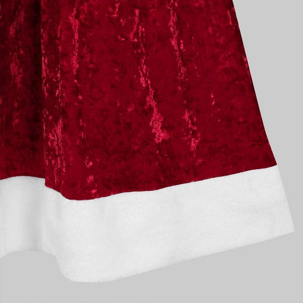 Transwen Weihnachten Umhang Samt Rot Kapuzen Weihnachtsfrau Festlich Cosplay Kost/üm Santa Kapuzenmantel Weihnachtsmantel Weihnachtskost/üm Weihnachten Bekleidung Kurz Umhang Mantel S-XL