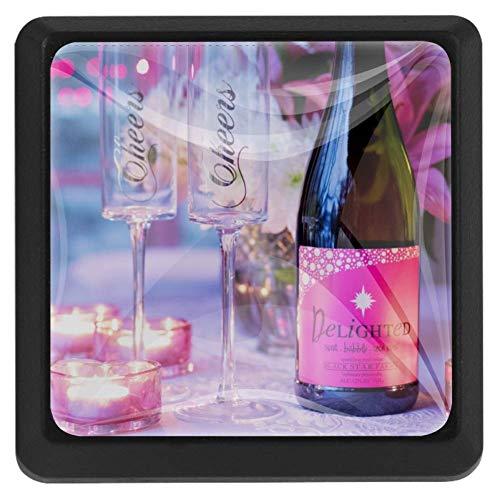 Monaco nacht vierkante lade knoppen trekken handgrepen 3 Pack gebruikt voor keuken, dressoir, deur, kast