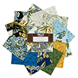 Robert Kaufman Avery Hill 5'' Charm Squares 42 Piece Fabric, Blue