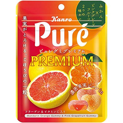 カンロ ピュレグミ プレミアム みかん&ピンクグレープフルーツ 54g×6袋