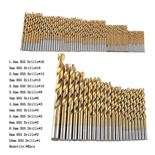 Yisenda Mini Twist Drill Bits Set, Drill Bits, Sharp Twisted for Most Drilling Jobs Aluminum, Wood, Plastics