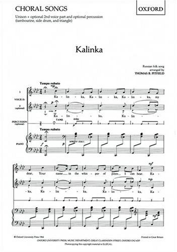 Kalinka: Vocal Score