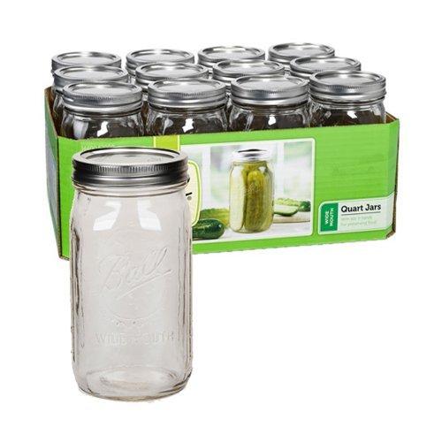 Ball Quart Jar, Wide Mouth, Set of 24