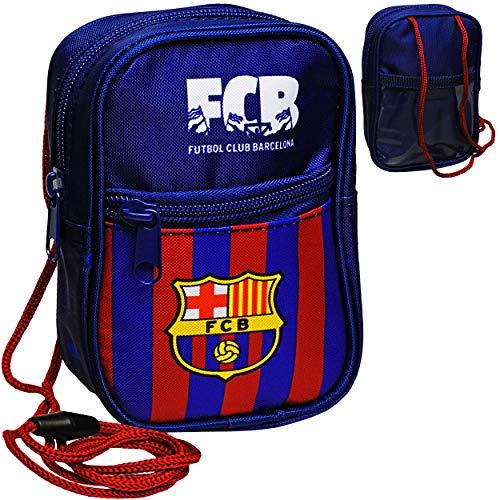 alles-meine.de GmbH Brustbeutel / Handytasche / Geldbörse - Fußball - FC Barcelona - FCB - mit Sichtfenster - Geldbeutel - Portemonnaie für Kinder - Geld Handy Geldtasche - Junge..