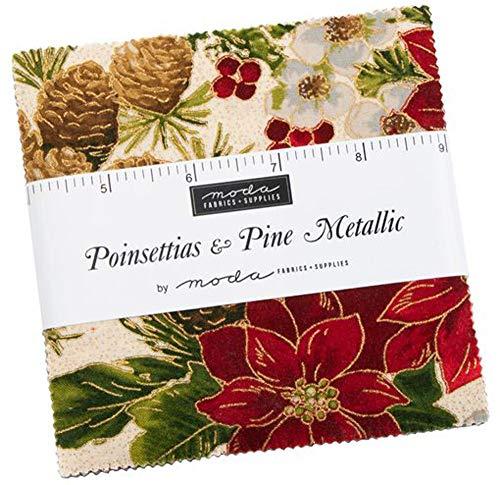 Moda; Paquete de abalorios metálicos de nochetias y pino; 106 – 12,7 cm precortados para colcha