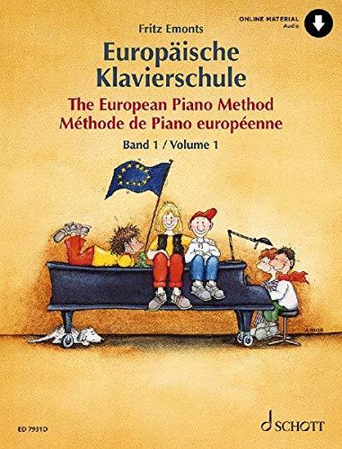 Europäische Klavierschule: Band 1. Klavier. Ausgabe mit Online-Audiodatei.