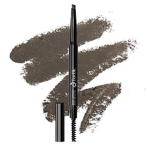 BaeBlu Cruelty Free Retractable Eyebrow Crayon, Vegan Non-Toxic Long Wear Brow Definer With Brush, Deep Brown Pen