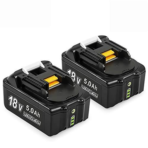2-Pacchi Dosctt 18V 5.5Ah Li-ion Batteria di Sostituzione per Makita BL1860B BL1860 BL1850B BL1850 BL1830B BL1830 BL1840 B 194205-3 194309-1 196399-0 LXT-400 Con Indicatore LED