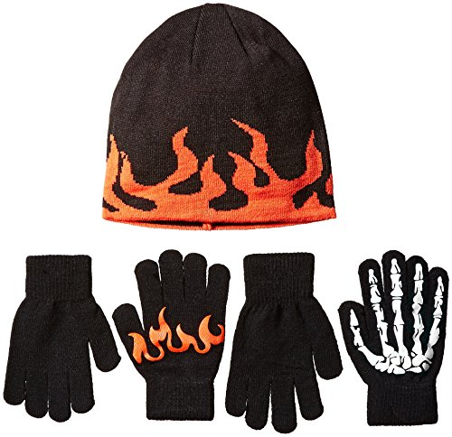 The Children's Place Big Boys' Cold Weather Accessories Set, Black, Small/Medium/4-7 Year