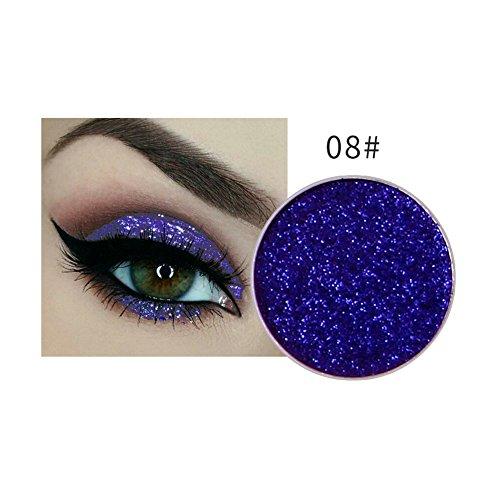 NICEFACE Sombras de Ojos Paletas de Sombras para Ojos Glitter con Lentejuelas Minis para Maquillaje de Fiesta Sombras Multifuncionales para Labios y Uñas (8#)