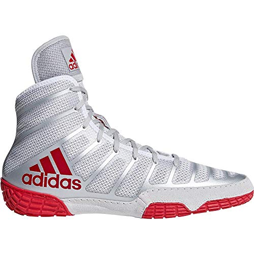adidas Men's Adizero Varner Wrestling Shoes, Red/Silver/Red, Size 6.5