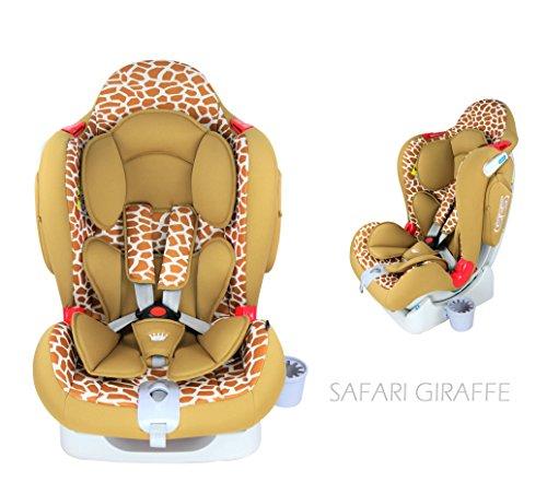 Royal Kiddy London © RK Venture Autositz von Neugeborenen bis 6 Jahre alt (Safari Giraffe)