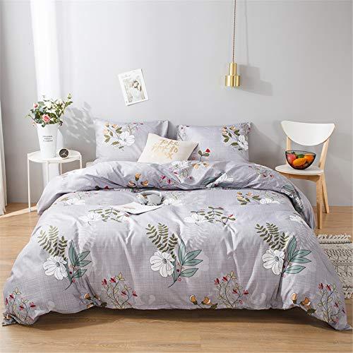 YYSZM Adecuado para Textiles para El Hogar De Los Niños Funda Nórdica Patrón De Flores Suave Y Cómodo Traje Hipoalergénico De 3 Piezas 264x228cm