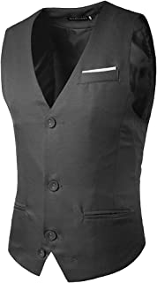 Men's Vest Slim Fit Blazer Vintage Retro Waistcoat Modern Casual Stylish Single Breasted Business Wedding Elegant Waistcoa...