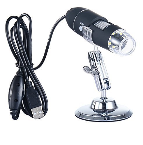 40 to 1000x Magnification Endoscope, Kids Microscope Camera, Coin Magnifier for Computer, Magnifying Scope, Compatible with PC and Phones