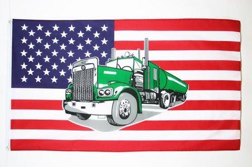 AZ FLAG Drapeau USA avec Camion 150x90cm - Drapeau américain - Etats-Unis 90 x 150 cm - Drapeaux