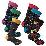 Lucchetti Socks Milano 6 pares calcetines estampados fantasia hombre dibujos pois rayas producto italiano de calidad extra fine (SET PUZZLE DI NALA SOLO)