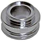 Danco 10522 13/16′-27M x 3/4′-GHM or 13/16'-27F Garden Hose Adapter, Chrome, Male/Female Faucet to Female/Male Faucet or Female Garden Hose to Female Faucet Aerator Adapter