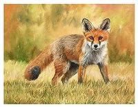 ティーンエイジャーデジタル絵画デジタル絵画キットギツネ動物芸術油絵家の装飾壁の装飾ユニークなギフト