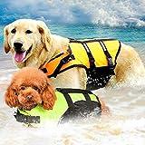 egdfg Mascota Grande Perro pequeño Chaleco Salvavidas Traje de baño Retriever Perro Surf Chaleco de natación Ropa Traje de baño Traje-Yellow_XL