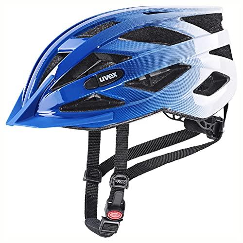 uvex Air Wing Casco de Bicicleta, Unisex-Adult, Cobalt-White, 56-60 cm