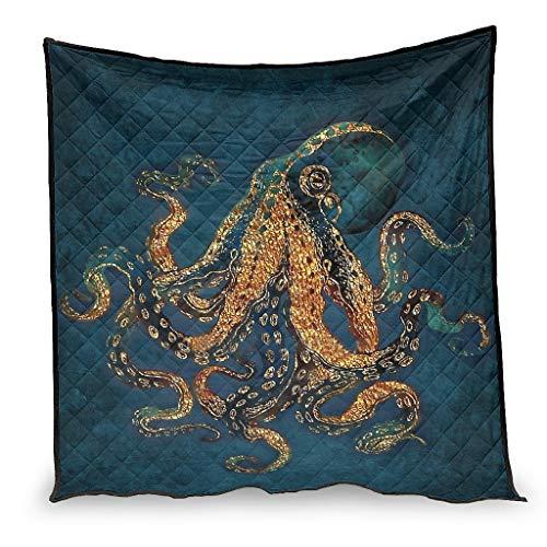 OwlOwlfan Octopus - Edredón antialergénico para primavera, verano, otoño, temporada blanca, 173 x 203 cm