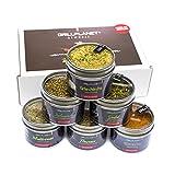 Gewürz Geschenk Set mediterran in Geschenkverpackung - Gewürzmischung für Grill Pfanne Salat und Sossen Geschenkset in Top Qualität ohne Zusatzstoffe