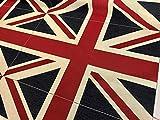 Union Jack Flagge Retro Leinenoptik Schwerer Jacquard