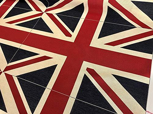 Union Jack Vlag Retro Linnen Look Zware Jacquard Gobelin Bekleding Katoen Tas Kussen Paneel Stof UK Banner - 70cm x 48cm (verkocht door het paneel)