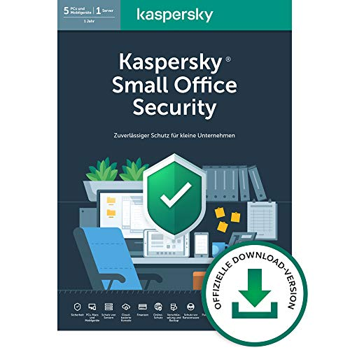 Kaspersky Small Office Security 7 Standard | 8 Geräte 8 Mobil 1 Server | 1 Jahr | Windows/Mac/Android/WinServer | für kleine Unternehmen | Standard | PC/Mac | Aktivierungscode per Email