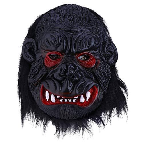 Wakauto Máscara de Gorila Novedad Miedo Disfraz de Halloween Máscara de Animal de Dibujos Animados Fiesta de Cabeza Completa Máscara de Látex para Niños Fiesta de Niños Halloween