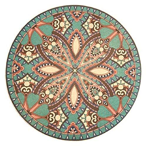 XUE-PP Marokkanischer runder Teppich, im amerikanischen Stil Wohnzimmer nationalen Wind Computer Stuhl Kissen Schlafzimmer hängenden Korb Pad Veranda runden Teppich Türmatte (Size : Diameter 120cm)