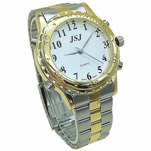 Reloj de pulsera con voz [idioma francés], para personas con problemas visuales, ciegos y ancianos