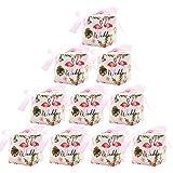 YUIP 10Pcs Hochzeit Candy Box, Hochzeit Candy Box, Candy Box, Flamingo Muster Candy Box (Rosa)