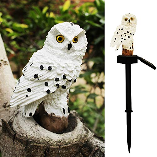 Solar Garden Lawn Light,Led Owl Shape Waterproof Outdoor Landscape Pathway Lamp for Yard Patio Home Festival Decor(White Owl)