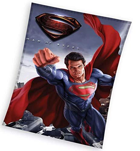 Manta polar Superman superhéroes para niños (1 manta de 100 x 150 cm)