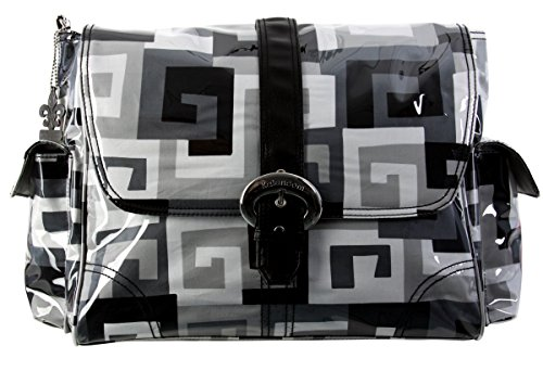 Kalencom Matte Coated Buckle Bag, Maze Black/White