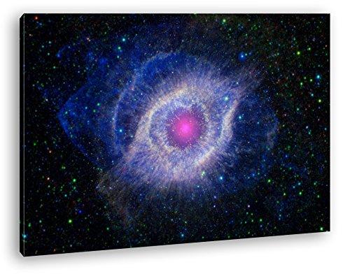 deyoli Überreste Einer Supernova Format: 80x60 als Leinwand, Motiv fertig gerahmt auf Echtholzrahmen, Hochwertiger Digitaldruck mit Rahmen, Kein Poster oder Plakat